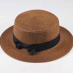 Dark Brown Wicker Sun Hat