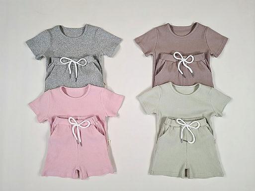 Summer Ribbed Loungewear Set