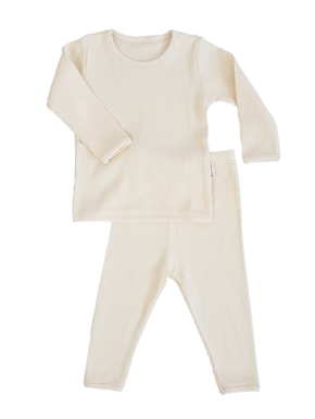 Luxury Children's Apricot Ribbed Loungewear