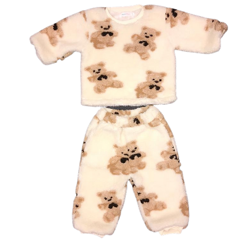 Teddy Bear Two Piece Fleece Loungewear