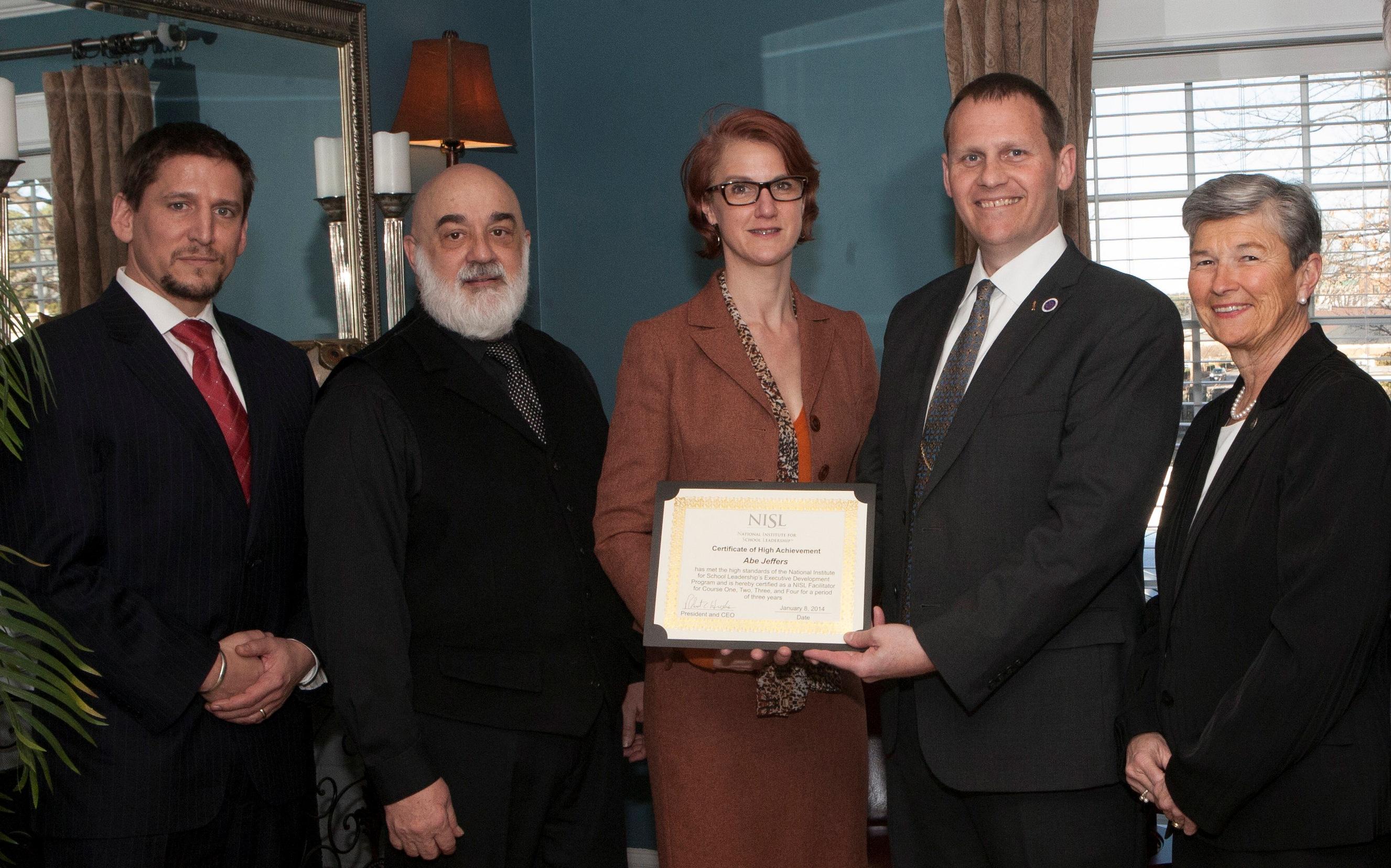 NISL Certificate of High Achievement