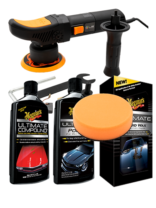 Kit Polisseuse  T2000 V3 8mm +pad + compound + cire Ultimate by meguiars