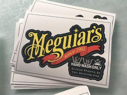 Sticker Meguiar Hand Wash Only 01