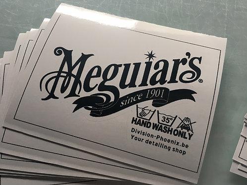 Sticker Meguiar Hand Wash Only 02