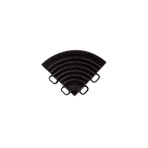 Bordure de coin pour Dalle de sol PP noir ral 9005