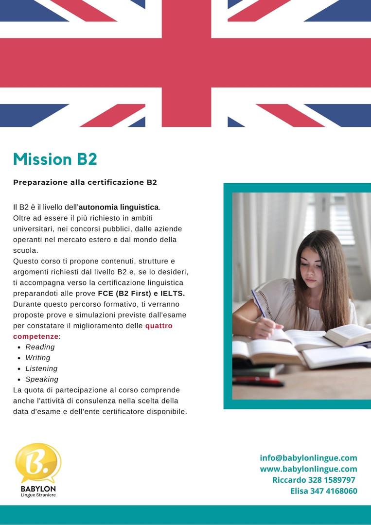 Certificazione di Inglese B2