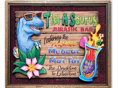 TIKI-A-SAURUS ORIGINAL ARTWORK Tiki Bar Sign