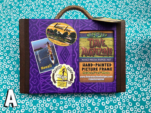 Hand-Painted Tiki Suitcase Picture Frames