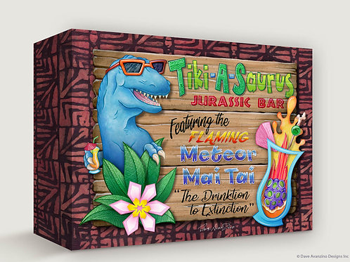 TIKI-A-SAURUS Gallery Wrapped Canvas