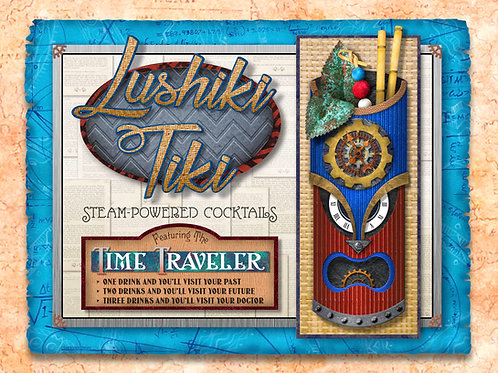 """""""Lushiki Tiki"""" Laser-Cut Wood Tiki Sign"""