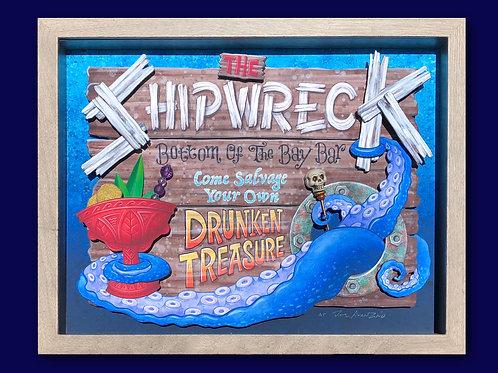 THE SHIPWRECK Tiki Bar Sign