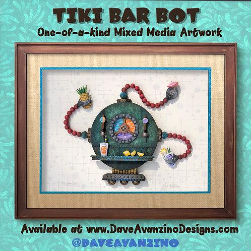 TIKI BAR BOT One-of-a-Kind Artwork