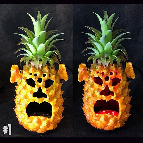 Pineapple Jack-O-Lanterns