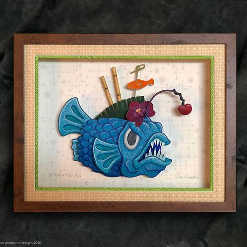 Angler Fish Tiki Mug Paper Sculpture