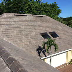 Flat tile roofing