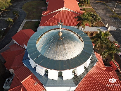 Metal Dome at St Katherines Church Naples, FL