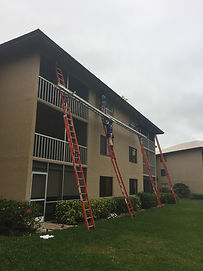 Our Roofing Crew On Commercial Roof Naples Fl