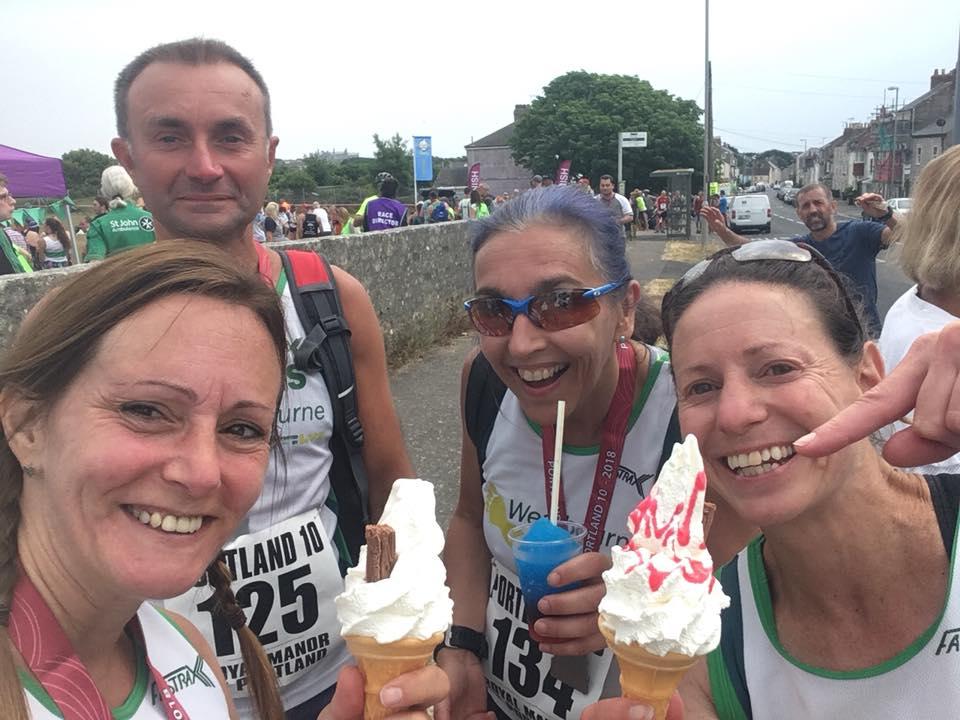 post race ice creams