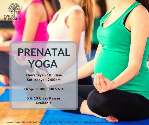 WEEKLY Prenatal Yoga