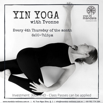 Monthly Yin Yoga Evening