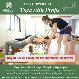 20hrs Intensive Yoga with Props Training