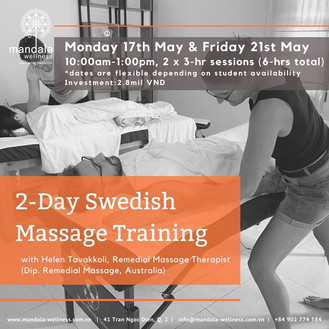 2-Day Course - Swedish Massage