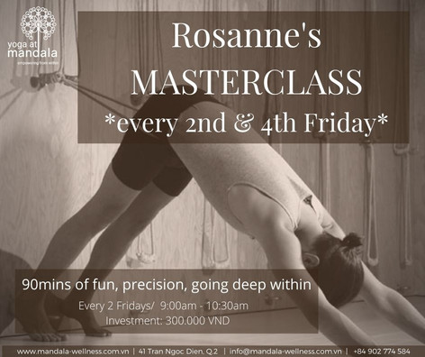 Masterclasses with Rosanne