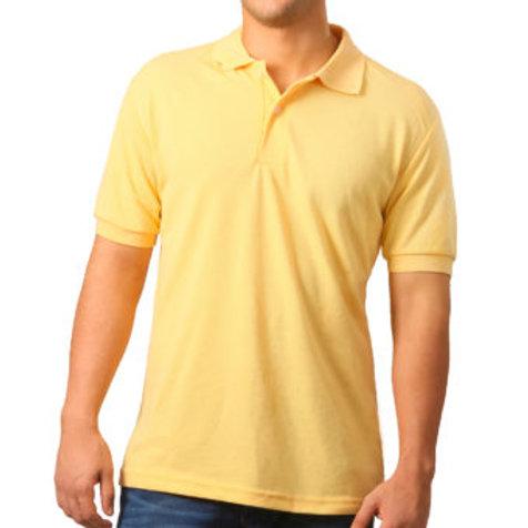 Camiseta Tipo Polo de Hombre Amarillo Medio