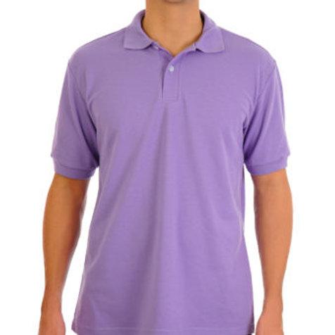 Camiseta Tipo Polo de Hombre Lila