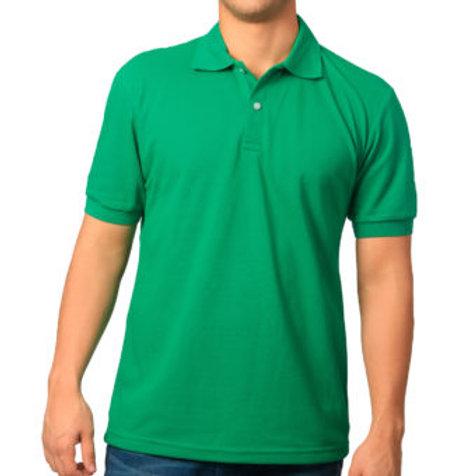 Camiseta Tipo Polo de Hombre Verde Nacional