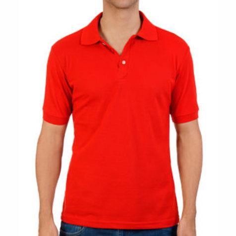 Camiseta Tipo Polo de Hombre Rojo