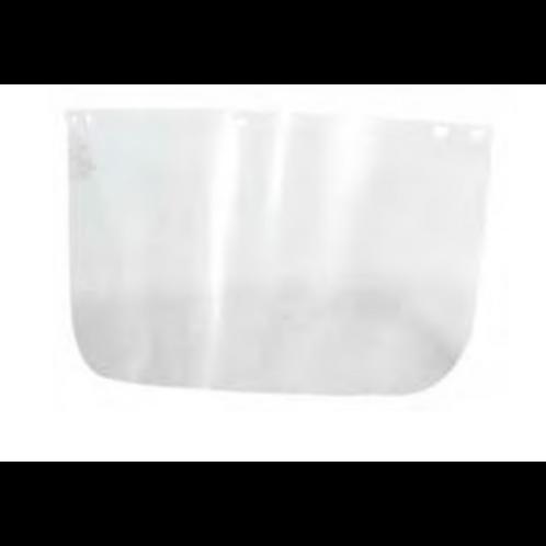 Visor Steelpro Policarbonato Sin Ribete 8 x 16 cms