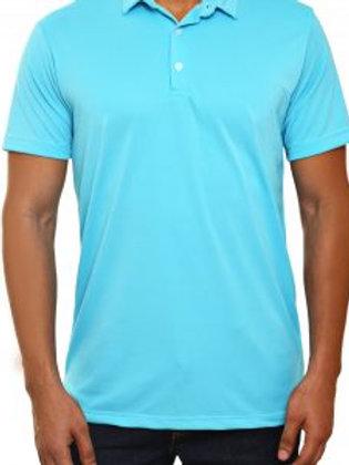 Camiseta Tipo Polo de Hombre Azul Cielo