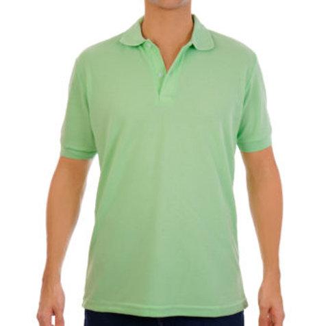 Camiseta Tipo Polo de Hombre Verde Manzana