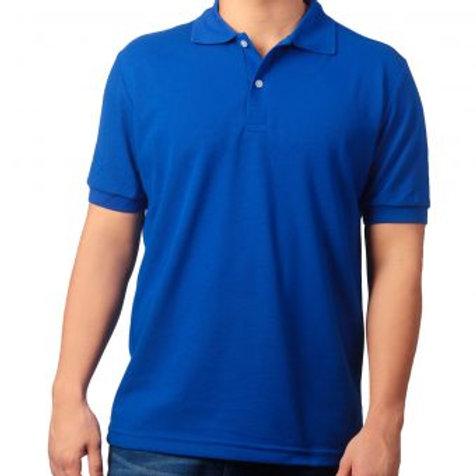 Camiseta Tipo Polo de Hombre Azul Rey
