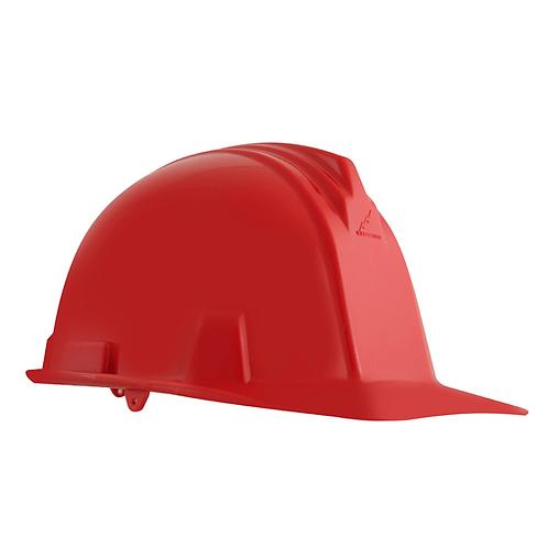 Casco Dielectrico con Rachet 4 Puntos de Apoyo Rojo