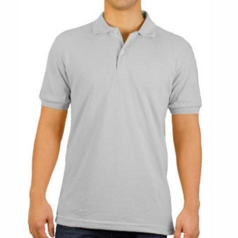 Camiseta Tipo Polo de Hombre Gris