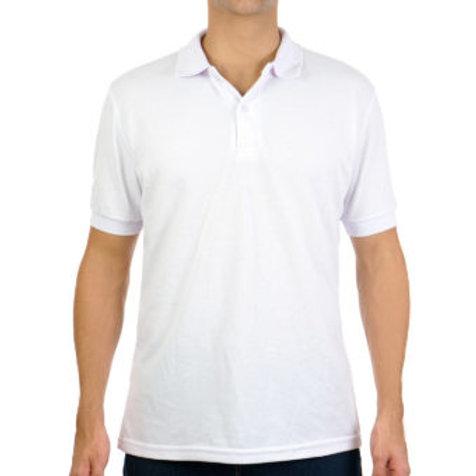 Camiseta Tipo Polo de Hombre Blanco