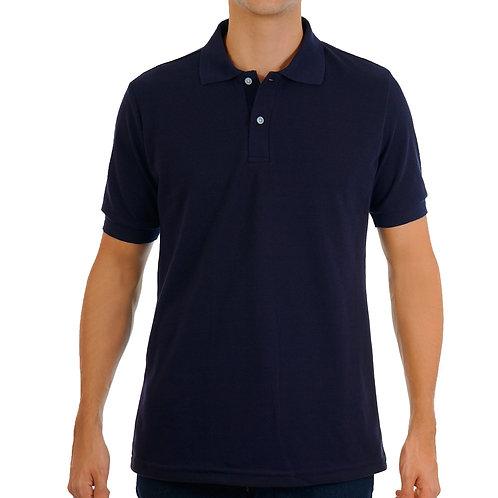 Camiseta Tipo Polo  de Hombre Turqui