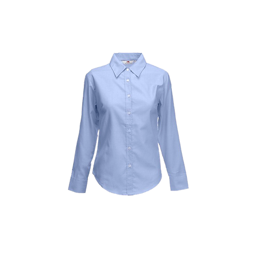 Camisa Oxford Dama Manga Larga
