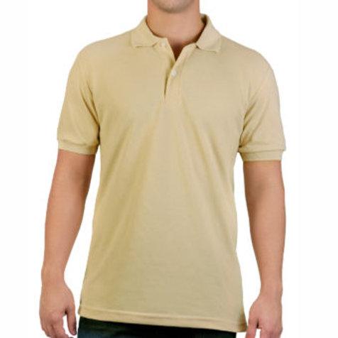 Camiseta Tipo Polo de Hombre Kaki