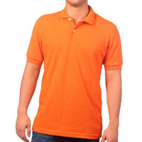 Camiseta Tipo Polo de Hombre Naranja