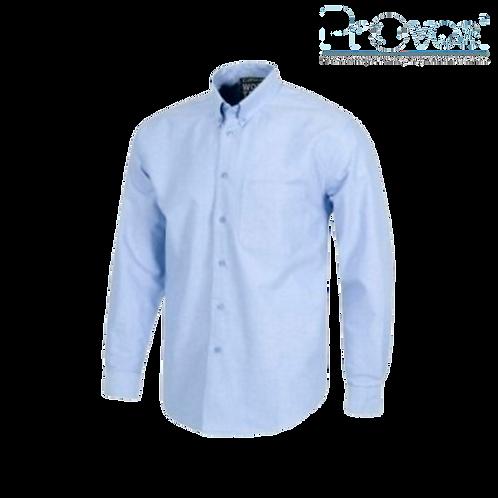 Camisa Oxford Manga Larga Caballero Azul Celeste