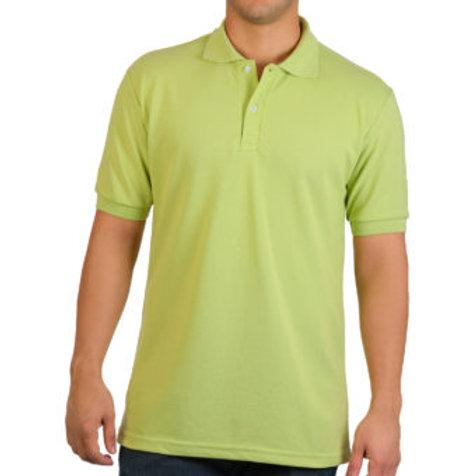 Camiseta Tipo Polo de Hombre Verde Limon