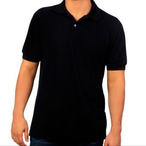 Camiseta Tipo Polo de Hombre Negro