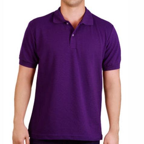 Camiseta Tipo Polo de Hombre Morado