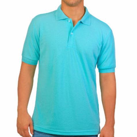 Camiseta Tipo Polo de Hombre Aqua