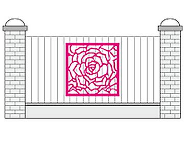 Накладка на забор