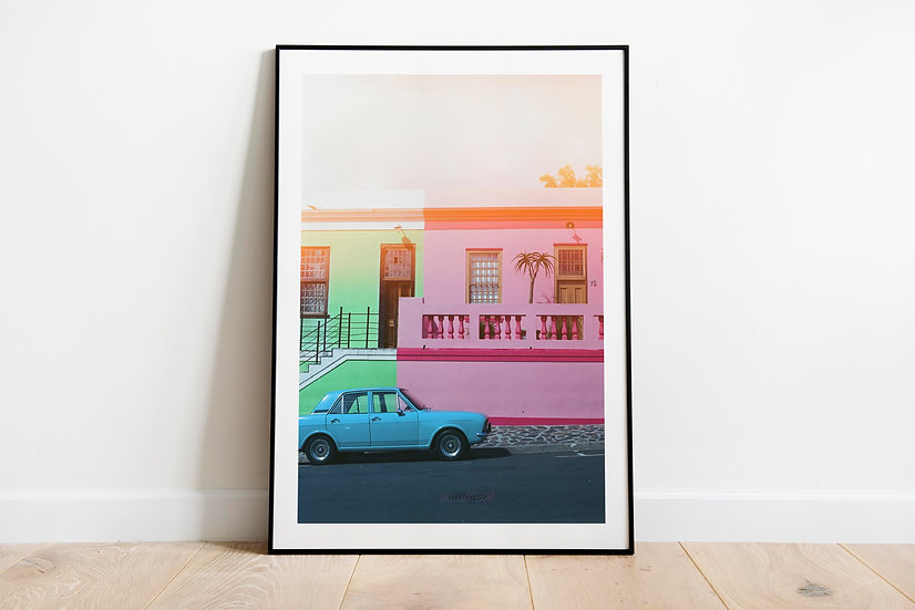 Blue Car | Bo Kaap, Cape Town