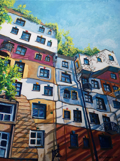"""Hundertwasser House, Vienna"" 2021 Anita Domeracka"